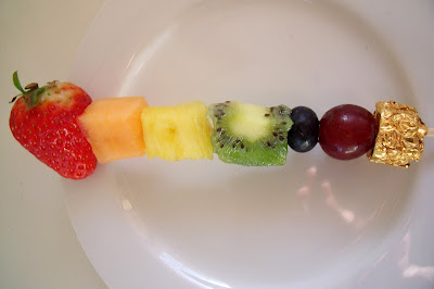 Rainbow Fruit Kabobs from Make do and Friend