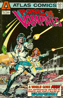 Atlas Comics, Planet of Vampires cover, Neal Adams