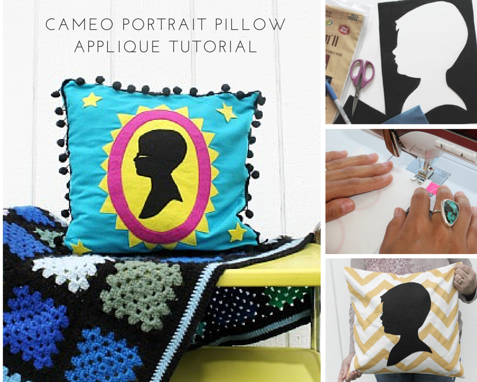 Cameo Pillow Cover DIY Gift for Mother's Day