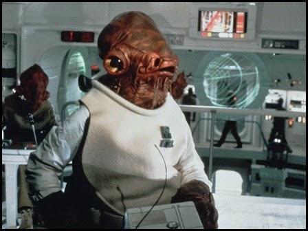 "Ackbar en ""El retorno del Jedi"" (1983)"
