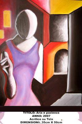 La mia arte sull'Arte (bisticcio di parole solo apparente) Aria-e-pazienza