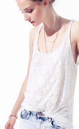 camisetas mujer Zara verano 2012