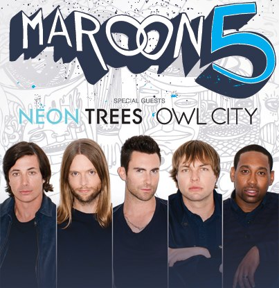 Maroon 5 Announce North American Dates for 2013 Overexposed Tour