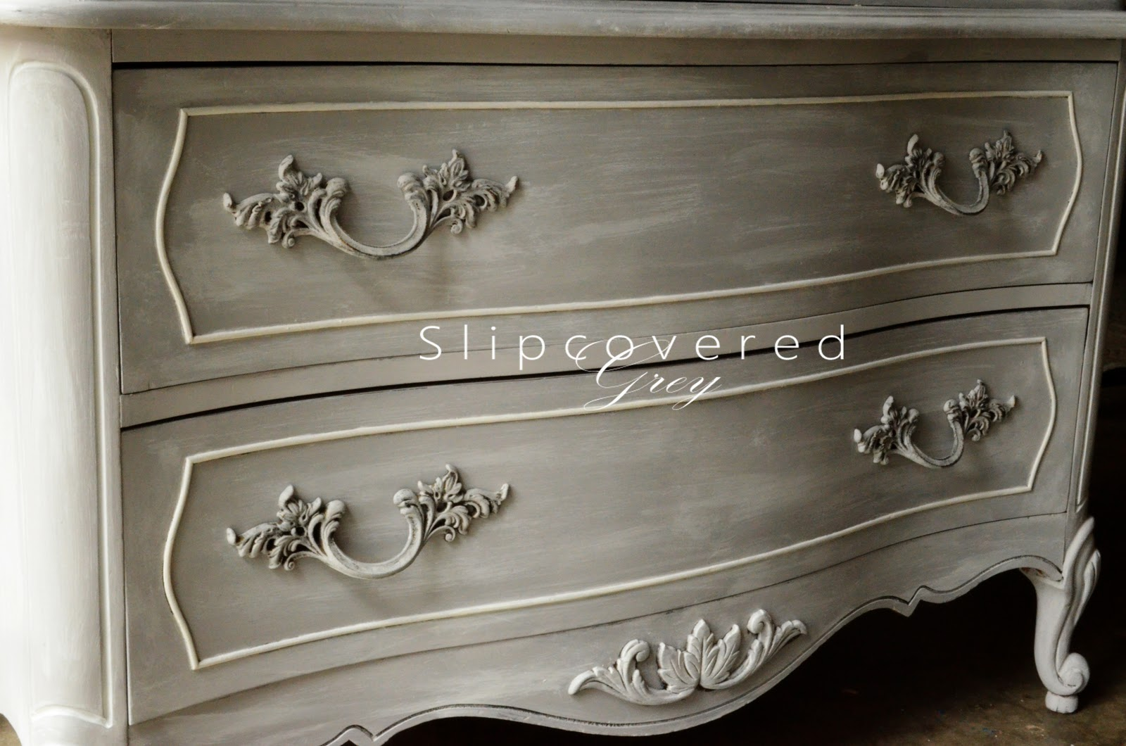 Craigslist slipcovered grey for Chalk paint at sherwin williams