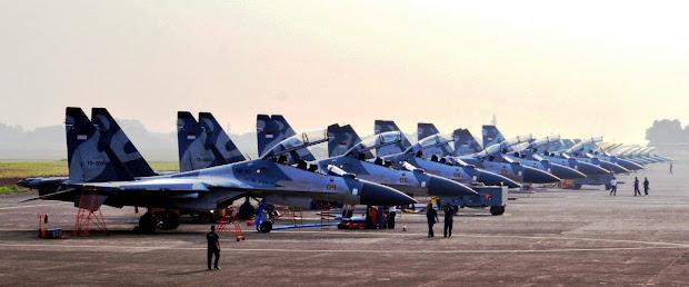 Skuadron Jet Tempur Sukhoi TNI AU. PROKIMAL ONLINE Kotabumi Lampung Utara