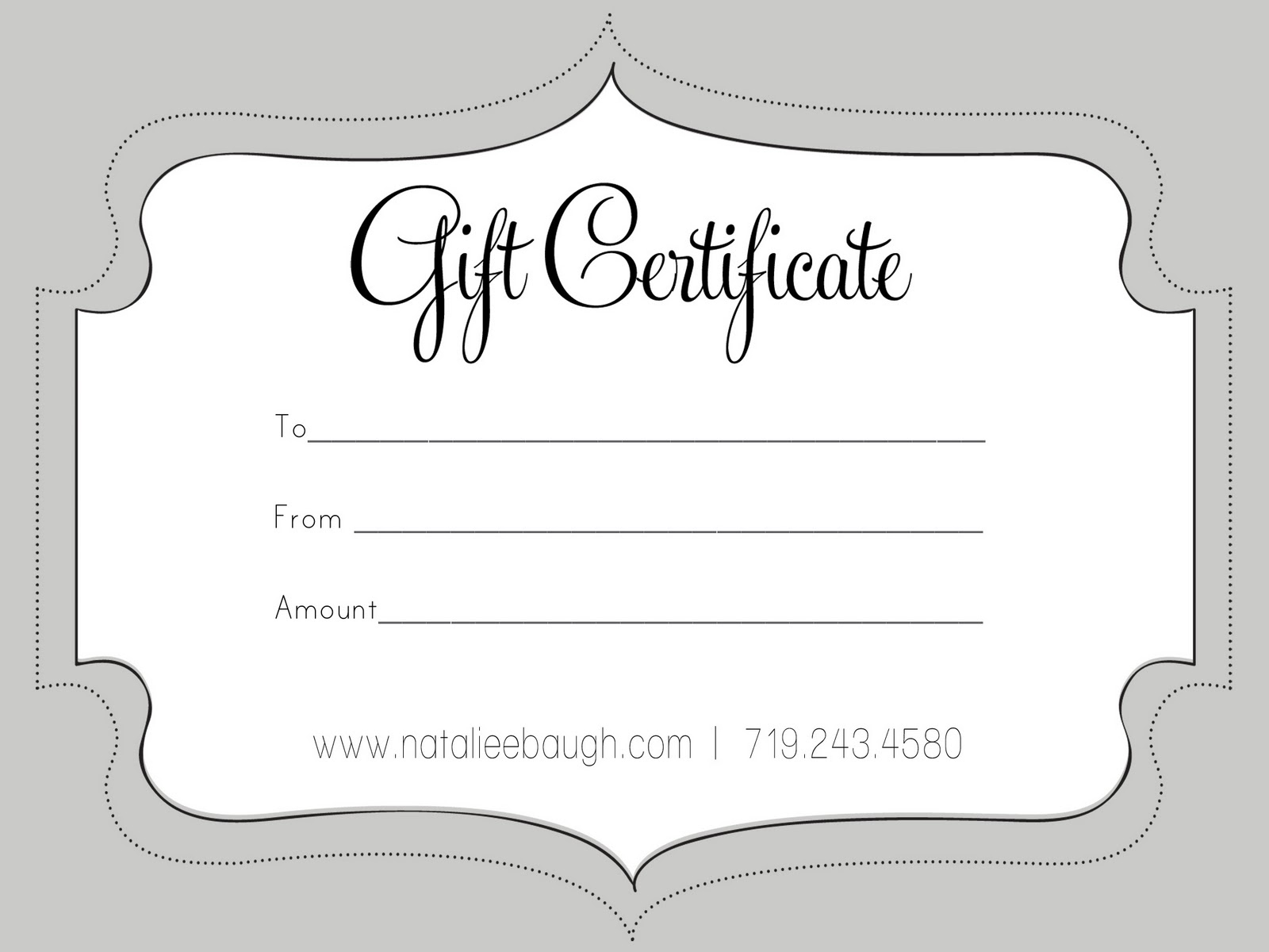 free holiday gift certificate templates gift certificate template – Free Printable Holiday Gift Certificates