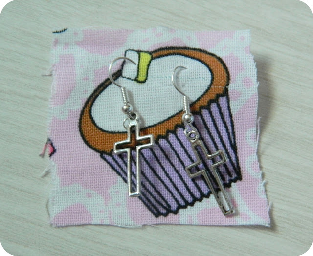 cross earings on cupcake patch