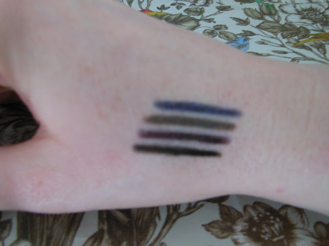 GOSH smokey eye liner swatches