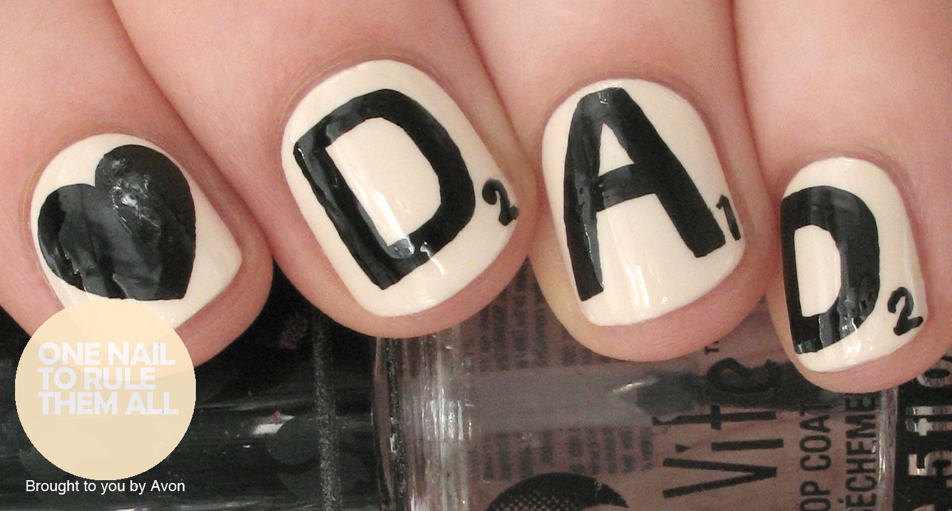 One Nail To Rule Them All: Fathers Day Nail Art for Avon