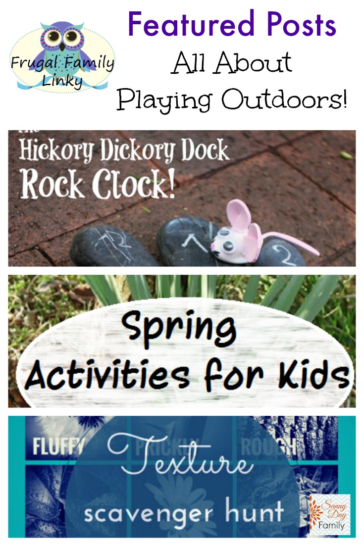 Frugal Family link party for March 26, 2015 featuring low cost or free Spring outdoor activities for kids!