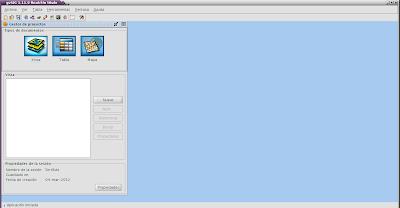 Imagen de usando gvSIG en Debian Squeeze