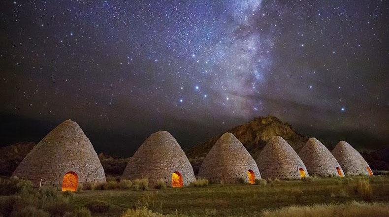 Las salas de hornos de carbón de leña en Nevada