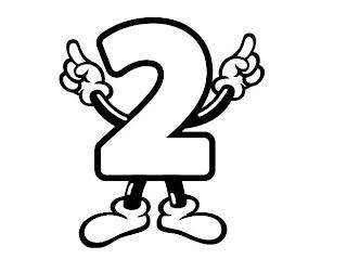 Números para colorir pintar 2