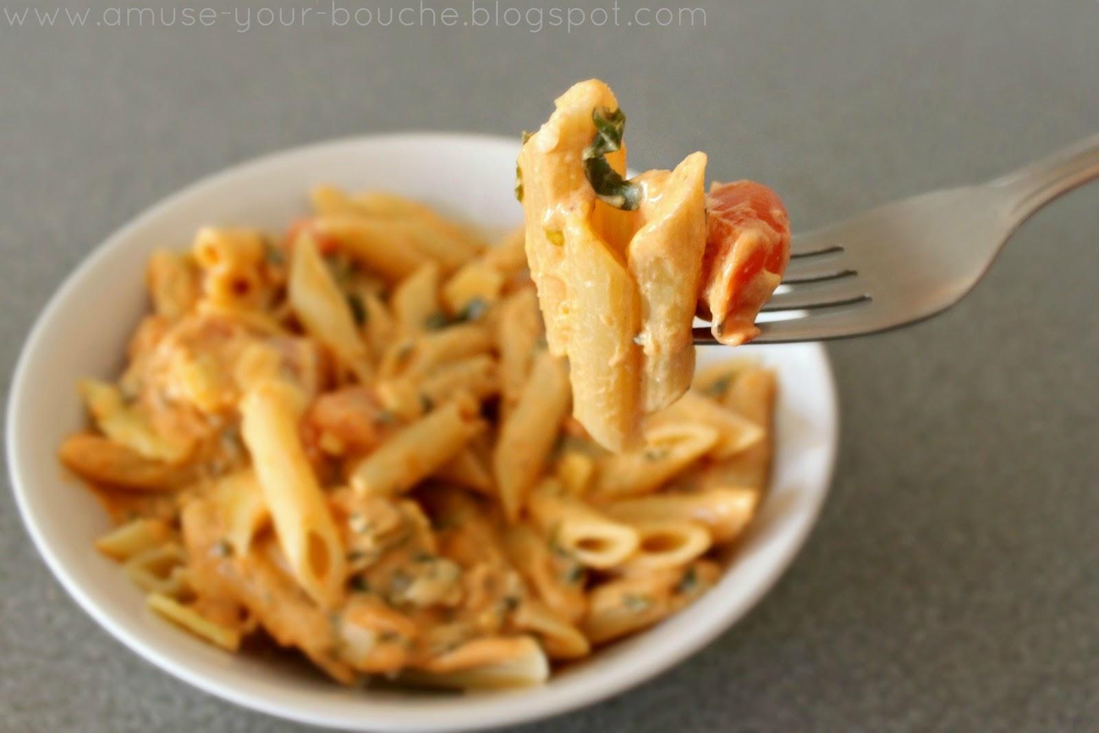 Tomato cream pasta sauce - Amuse Your Bouche