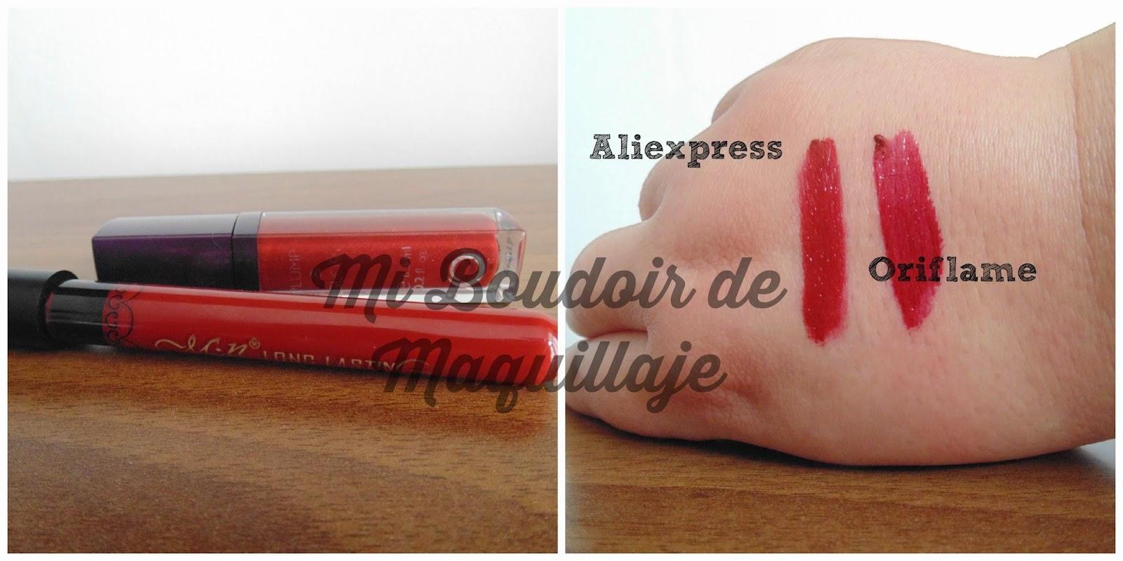 Aliexpress labial fijo en formato gloss