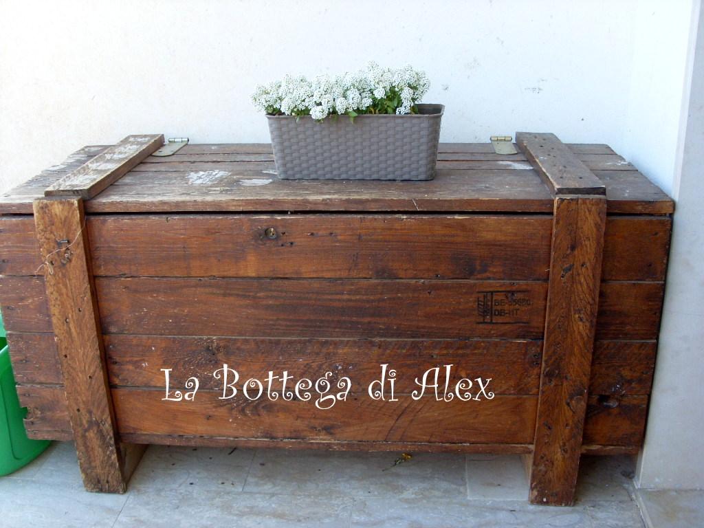 La bottega di alex restauro cassapanca for Cassapanca per giardino
