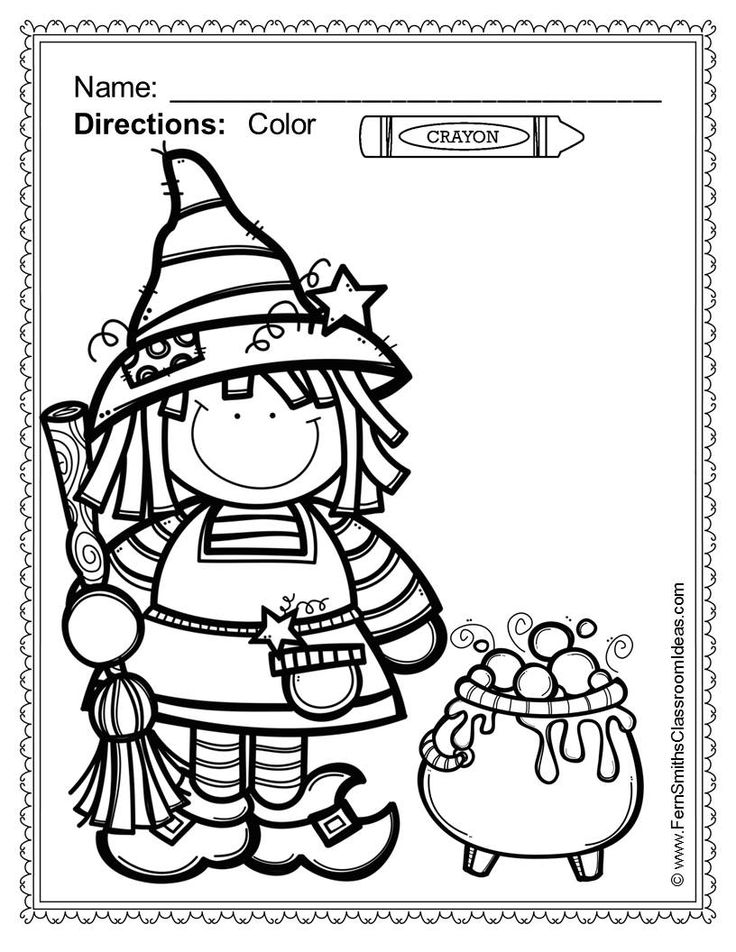 Fern Smith's Classroom Ideas Halloween Fun! Color For Fun Printable Coloring Pages