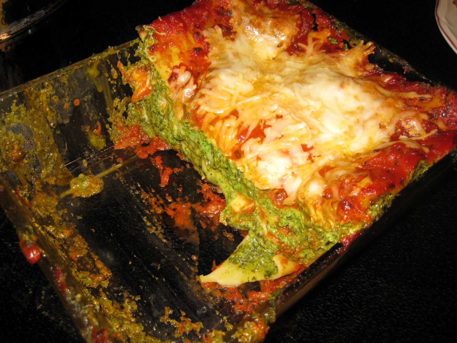 one step spinach lasagne recipe yummly easy spinach lasagna love and ...