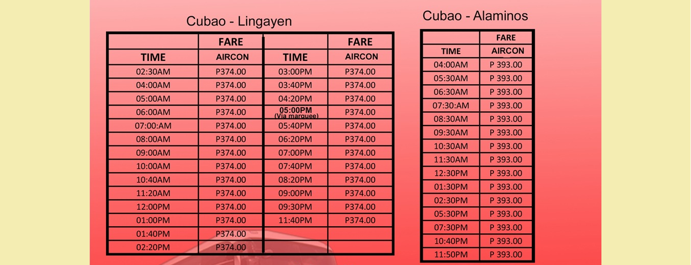 Victory Liner Schedule Amp Fare