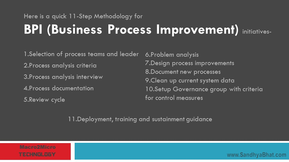 11 Step Methodology for BPI