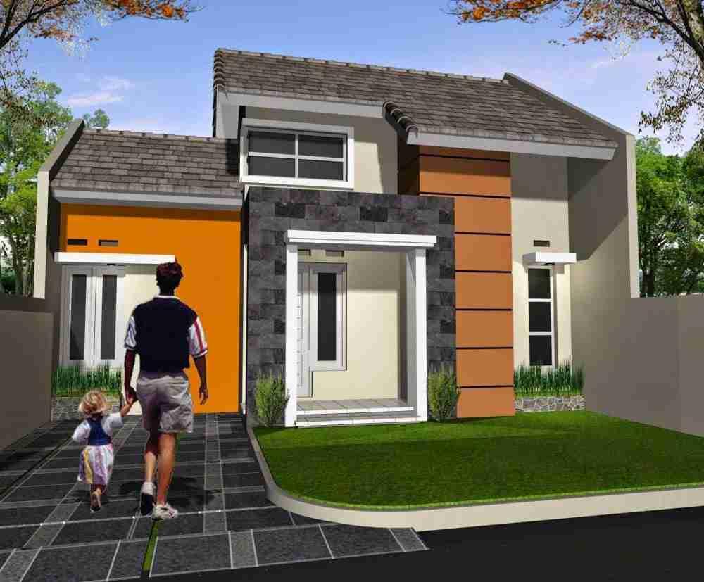 Desain Rumah Minimalis Unik Tanpa Garasi 1