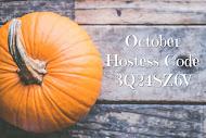 October Hostess Code