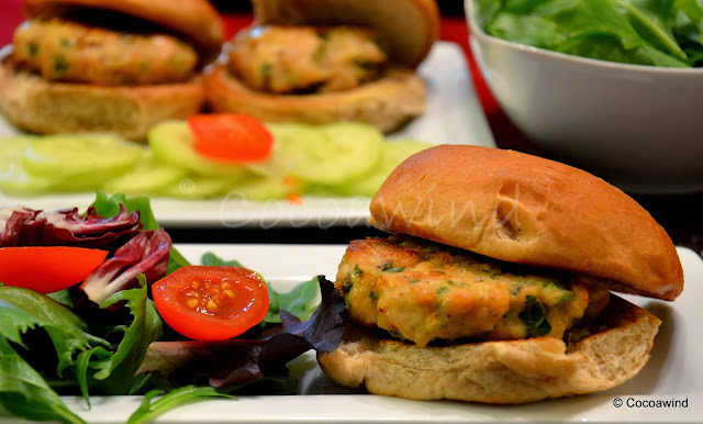Oven Baked Chicken Burgers