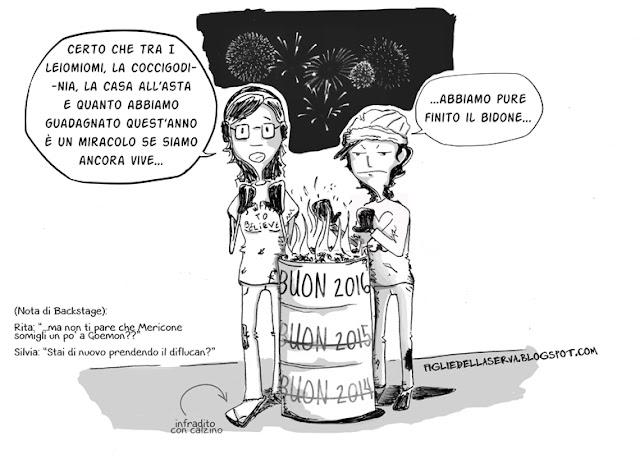 Buon anno da Silvia Mericone e Rita Porretto, le Figlie della Serva ©