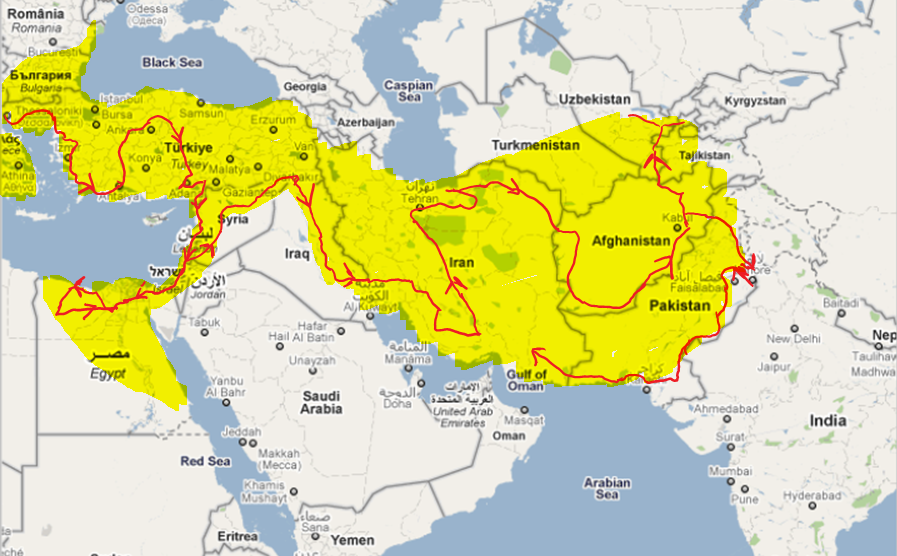 map of journey of Alexander the Great