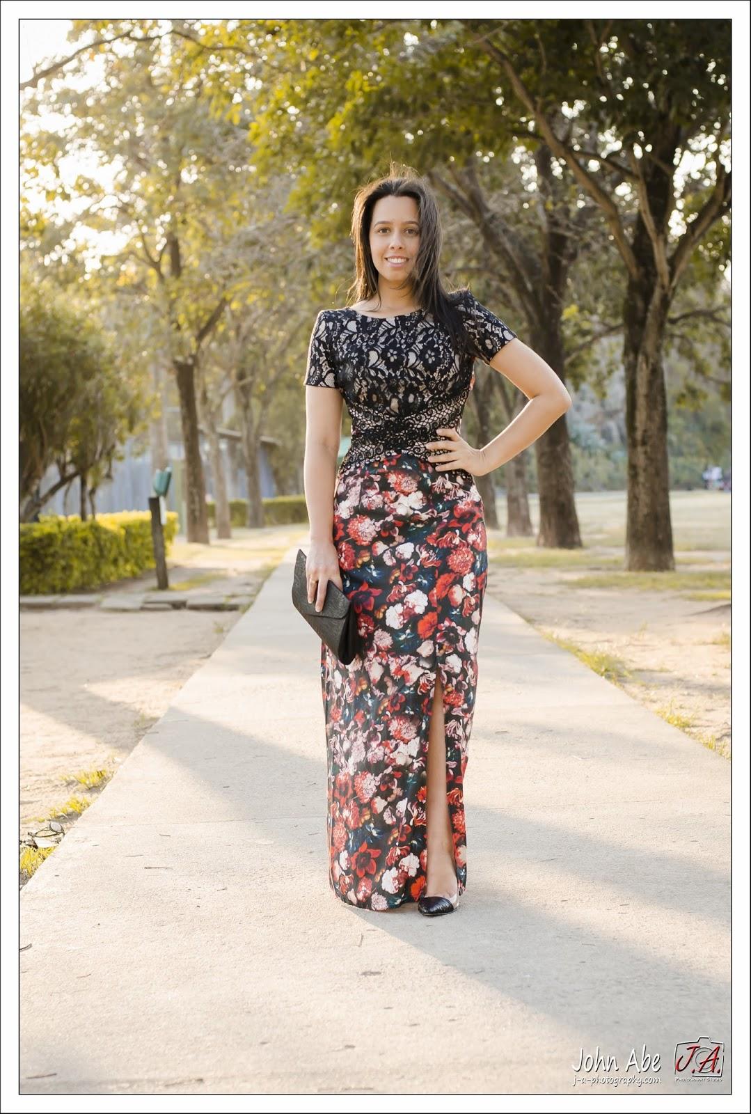 Look vestido longo para baixinhas
