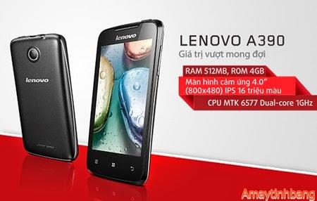 Smartphone giá rẻ dưới 3 triệu Lenovo A390