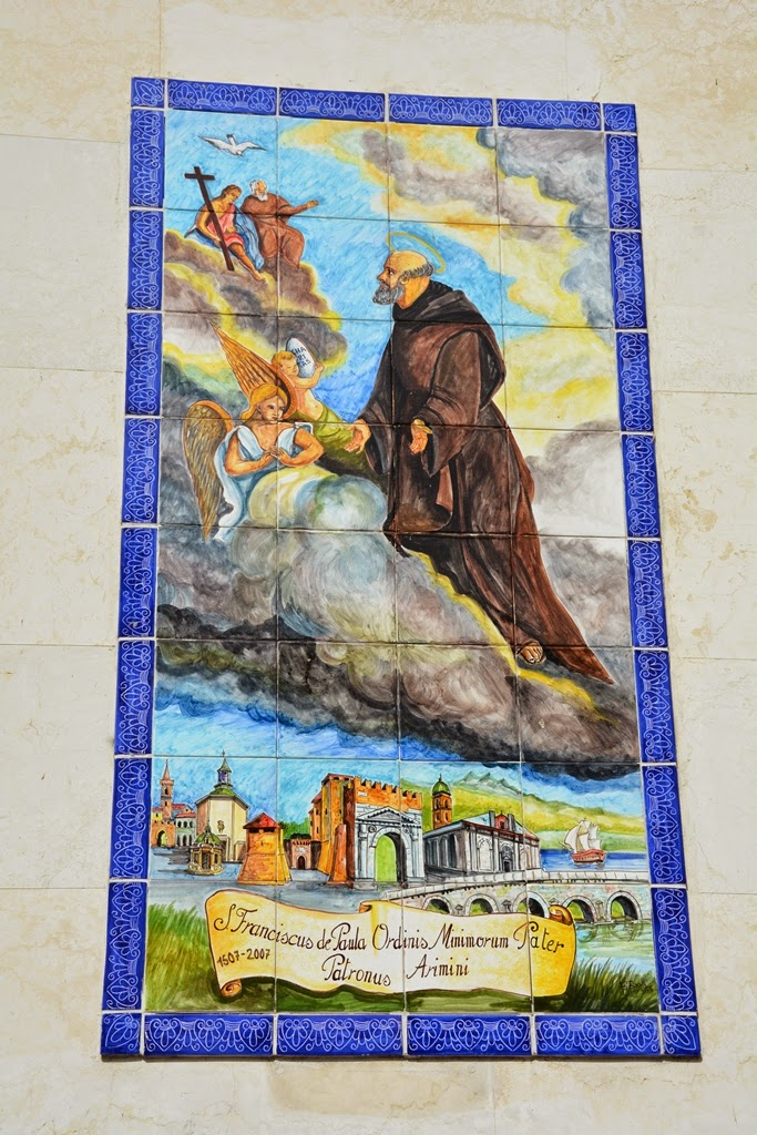 Piazza Tre Martiri Rimini mosaic
