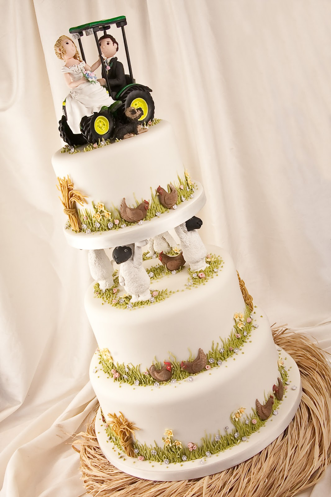 Life is What You Bake it Old McDonalds Wedding Cake