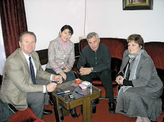Mr. Kampffmeyer with Gordana Kovačević-Milanovic, Stojanka Alekić and Milan Čobanov from Central Council of Serbs in Germany