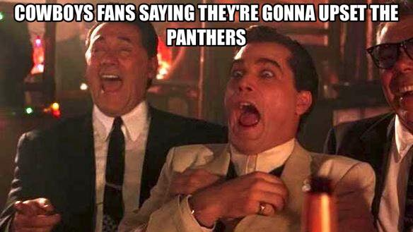 #nfl #cowboyshaters #panthers #upset.- cowboys fans saying they're gonna upset the panthers