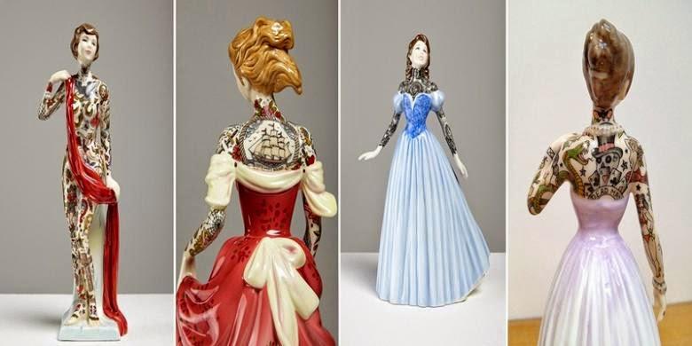 Wow, Seniman Inggris Ciptakan Boneka Porselen Penuh Tato