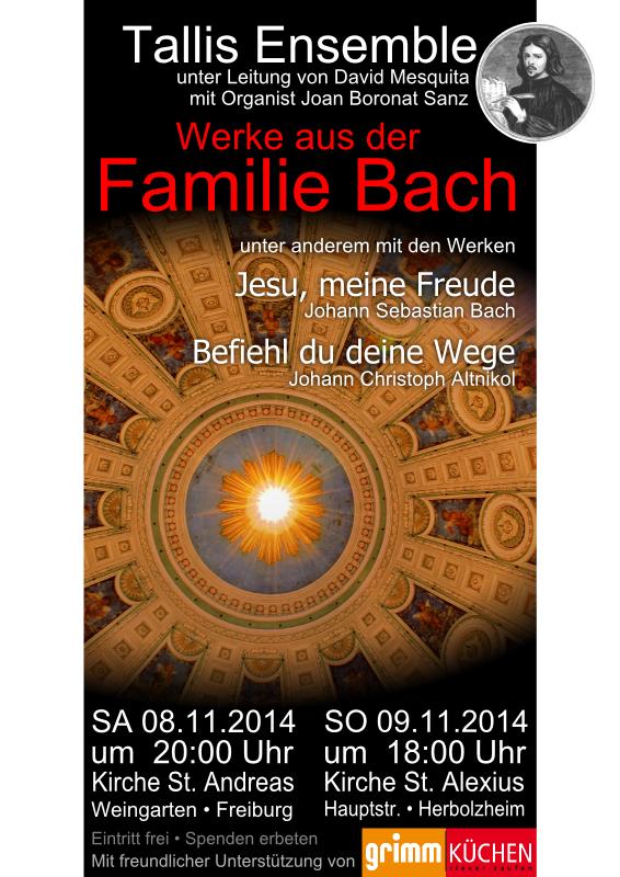 Flyer Werke aus der Familie Bach