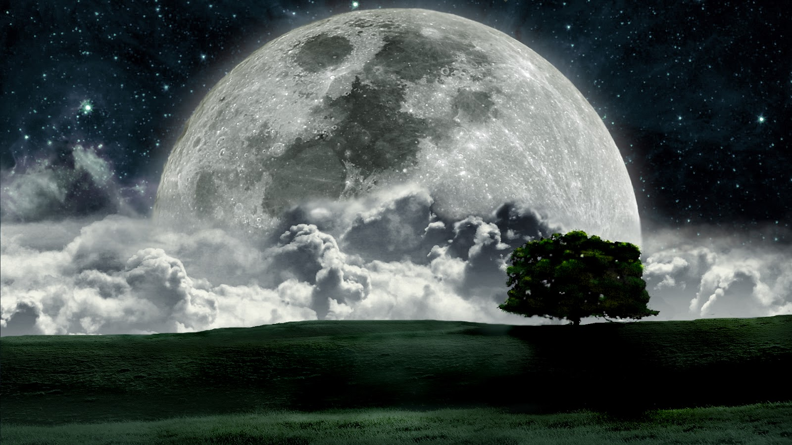 wallpaper bluos moon wallpaper