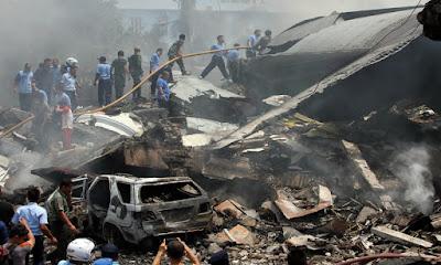 Hot News: Pesawat Hercules Jatuh di Medan