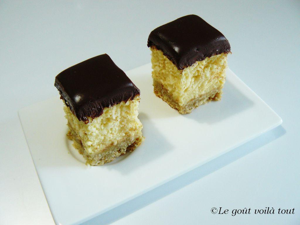 Crème des carrés coco choco