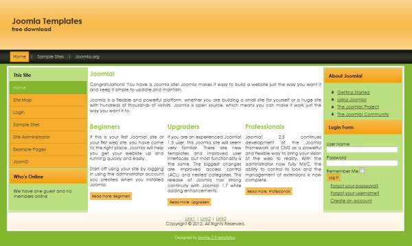 theme joomla 2.5 templates joomla 1.7 templates free download, Powerpoint templates