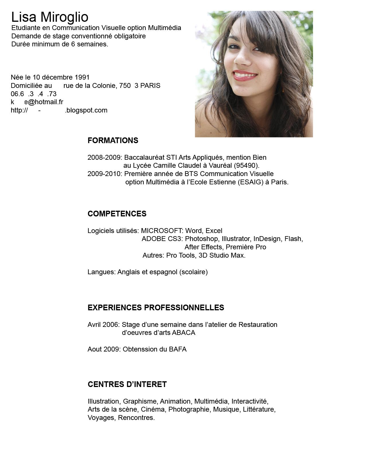 Curriculum Vitae Con Foto