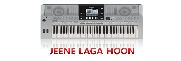 piano notes for jeene laga hoon