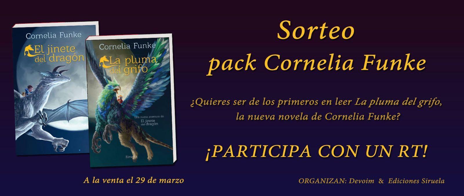 Sorteo Pack Cornelia Funke [El jinete del dragón + La pluma del grifo]