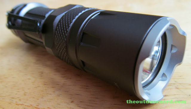 Nitecore SRT3 Defender EDC Flashlight: Side View, Bezel Forward
