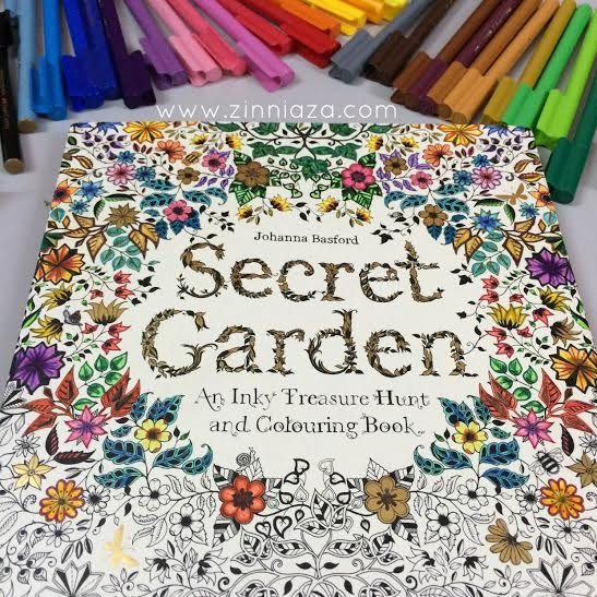 Hobi Mewarna Kembali Secret Garden Colouring Book By Johanna Basford