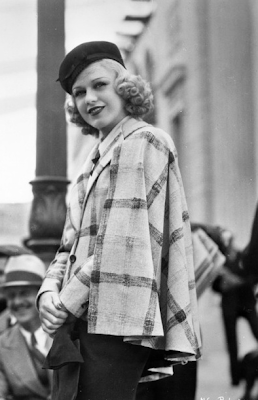 Ginger Rogers #vintage #fashion #style #plaid #fall #autumn