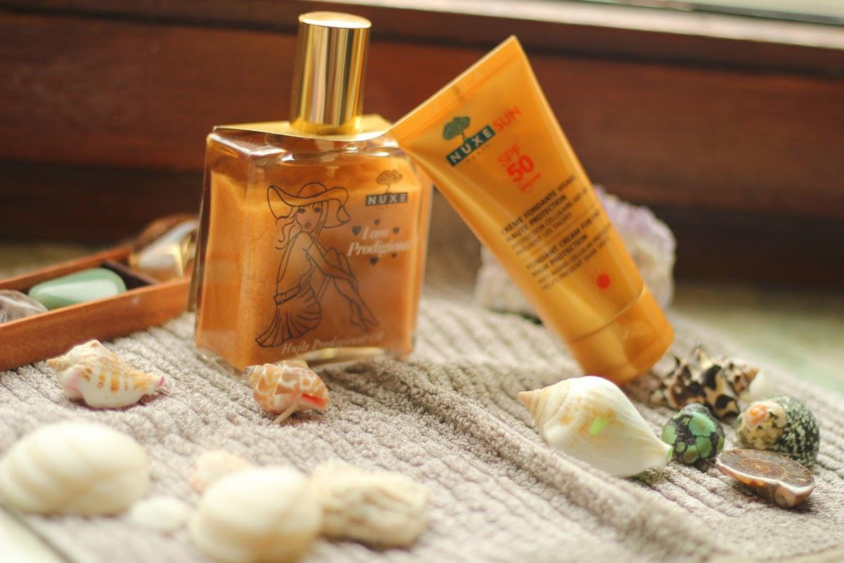kosmetik von nuxe golden