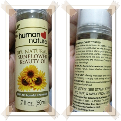 Human Nature Sunflower Oil For Pimples
