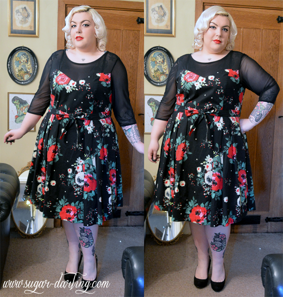 Winter blooms scarlett jo black floral print prom dress review